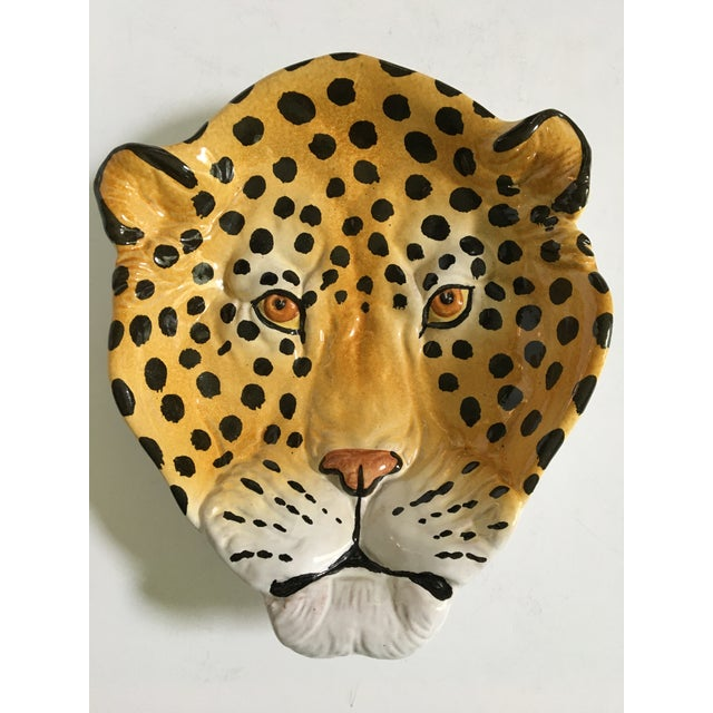 Italian Mid-Century Hollywood Regency Handcrafted Pottery Spotted Leopard Dish/Catchall For Sale - Image 13 of 13