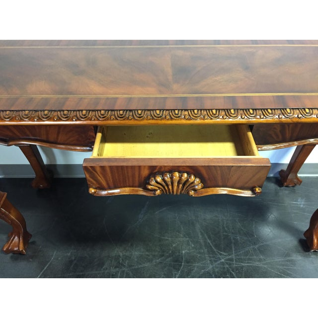 Chippendale Mahogany Inlaid Console Sofa Table - Image 5 of 11