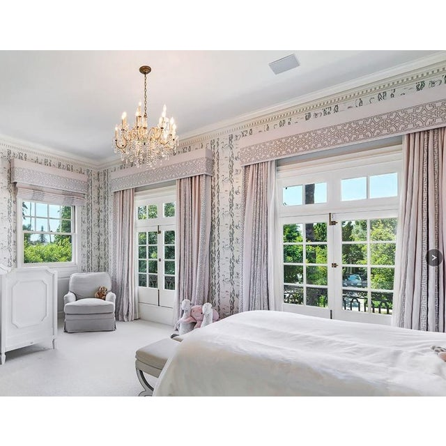 Colefax & Fowler Designer Drapery Full Window Treatment.. Includes 2 panels and the large matching valance. This listing...