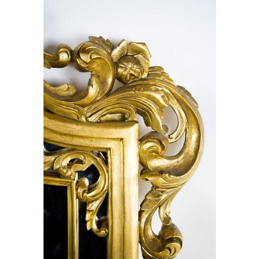 Baroque-Style Carved Wooden Wall Mirror - Image 7 of 9
