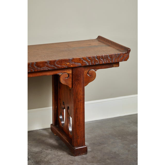 Late 18th Century 18th Century Ming Scroll Console Table For Sale - Image 5 of 10