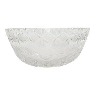 Vintage Brunswick Star and Crosshatch Crystal Bowl For Sale