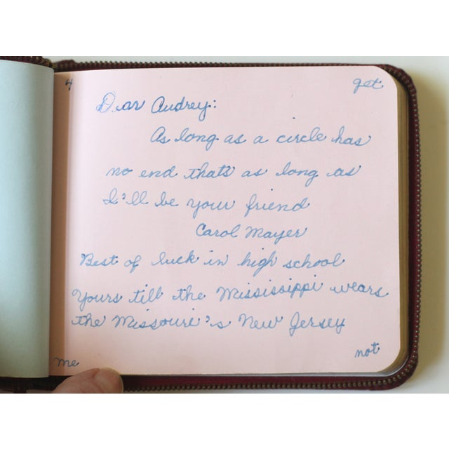1947 Red Leather Autograph Book - Image 3 of 4