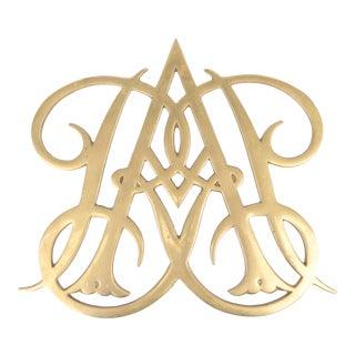 Queen Ann Brass Cypher Trivet For Sale