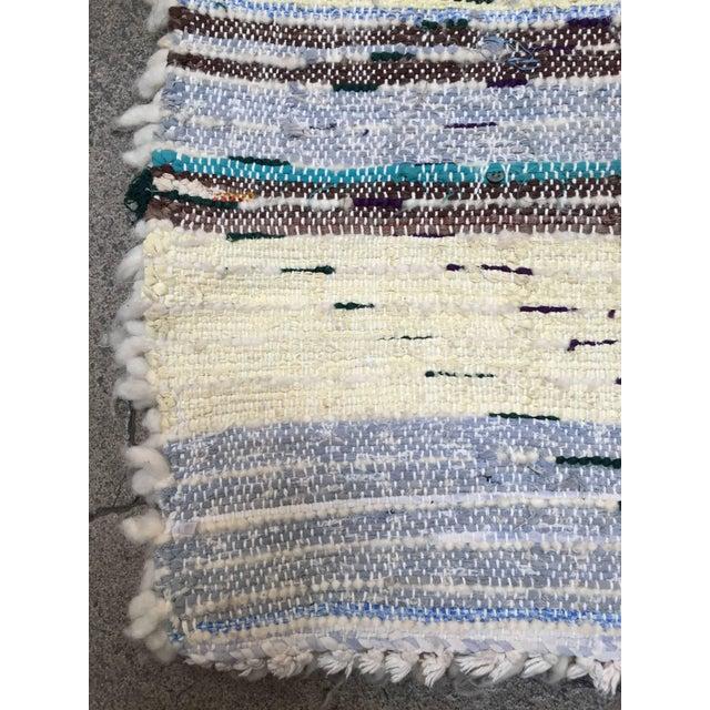 Fabric Mid Century Moroccan Beni Ouarain Tribal Rug - 2′8″ × 6′3″ For Sale - Image 7 of 8