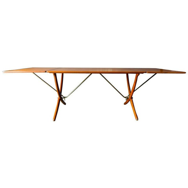 Hans Wegner for Andreas Tuck Model At-304 Dining Table, Circa 1955 For Sale - Image 13 of 13