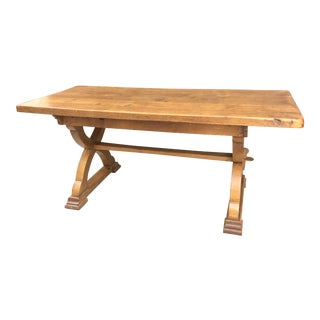 French Antique Farmhouse Dining Table For Sale