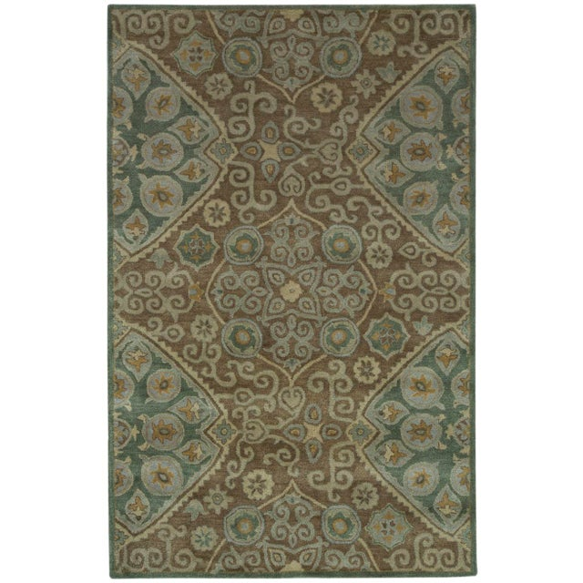 Hand Tufted Brown Wool & Cotton Victoria Rug - 8′ × 10′ - Image 4 of 4