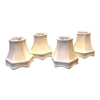 Monterlite Ivory Hexagon Shades - Set of 4 For Sale