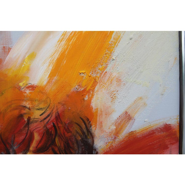 Oil Paint Figural Abstract Reflective Painting by Jonas Girard For Sale - Image 7 of 11