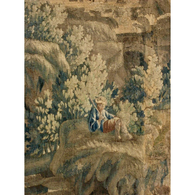 1700s French Aubusson Verdure Tapestry Wall Hanging For Sale - Image 4 of 11