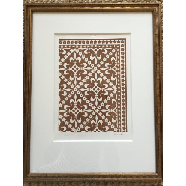 Framed Book Plate Pattern Prints - Set of 6 For Sale - Image 5 of 10