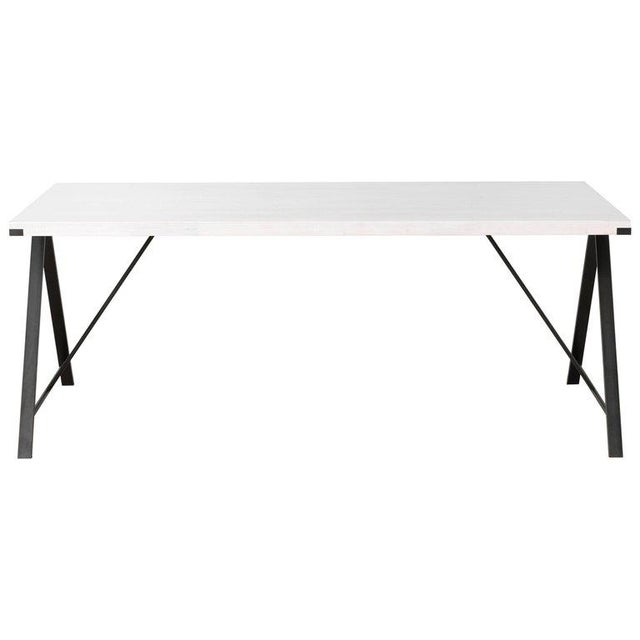 Contemporary Blackened Steel and White Washed Maple A-Table For Sale In New York - Image 6 of 6