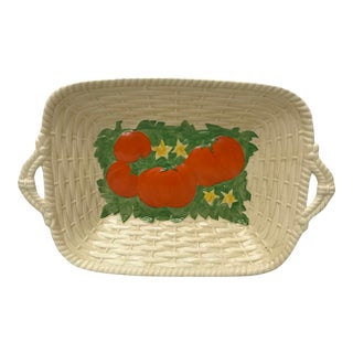 1940s Vintage Basket Weave Bread Tray For Sale