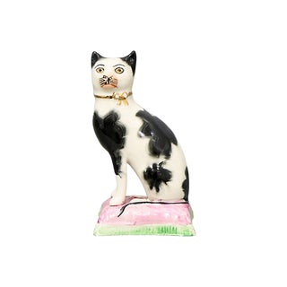Antique Staffordshire Cat For Sale