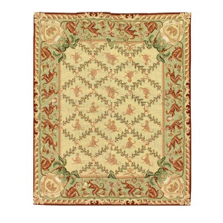 Pasargad Beige Needlepoint Rug - 4′8″ × 5′8″ For Sale