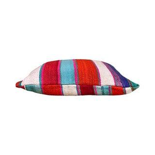 Kim Salmela Boho Chic Striped Peruvian Square Kilim Pillow Preview