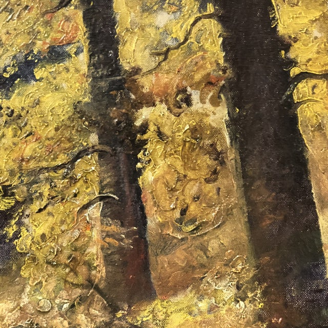 Autumn Forest Oil on Canvas Early 20th Century For Sale - Image 9 of 11
