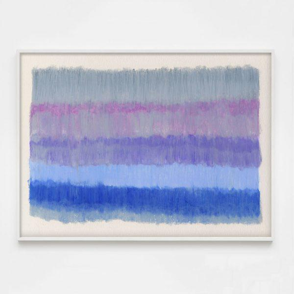 "Contemporary ""ColorCake (Grey, Violet, Blue)"" Unframed Print For Sale - Image 3 of 3"