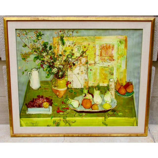1950s Vintage Andre Vignoles Painting For Sale - Image 11 of 11