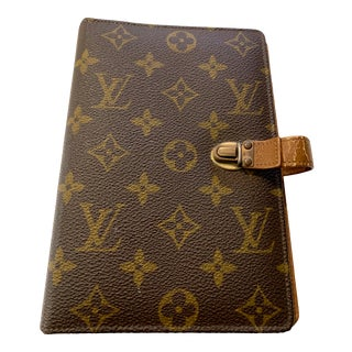 Vintage Louis Vuitton 3 Ring Address Book For Sale