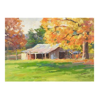 Plein Air Landscape Painting by Marlin Linville For Sale
