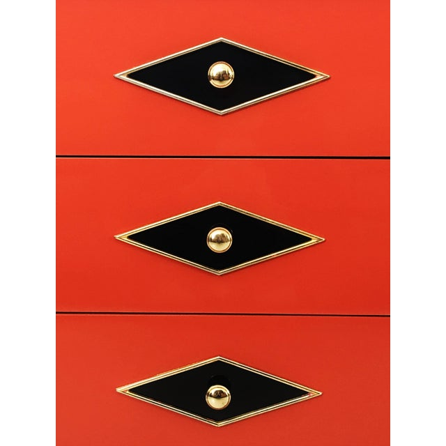 Stunning Pair of Neoclassical Lacquered Chests or Commodes For Sale - Image 4 of 10