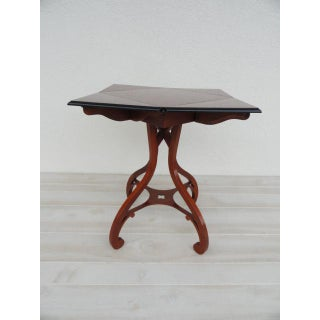 20th Century Traditional Baker Furniture Drop Leaf Handkerchief Side Table Preview