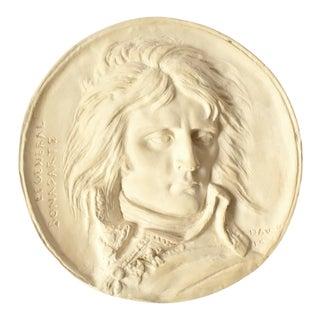Vintage Napoleon Bonaparte Plaster Medallion Plaque For Sale