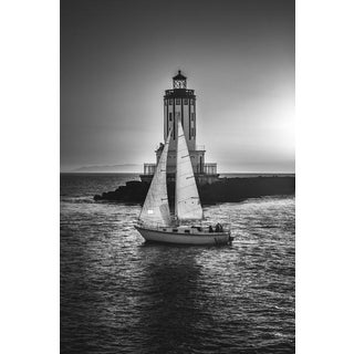 Jason Mageau Intersection, Lighthouse, and Sailboat Photo For Sale
