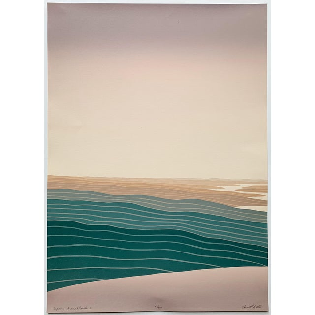 Lithograph 1970s Vintage Scott Nelli Abstract Lithograph Print For Sale - Image 7 of 7