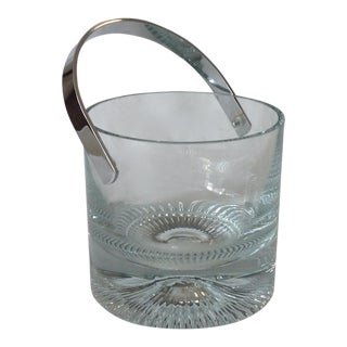 Mid-Century Crystal Ice Bucket