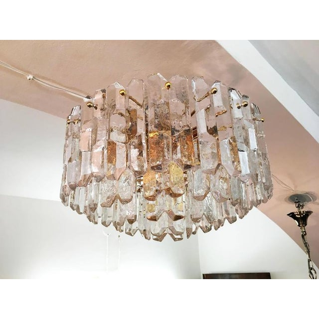 Mid-Century Modern Large Palazzo Frosted Glass Chandelier by JT Kalmar, 1970s For Sale - Image 3 of 11