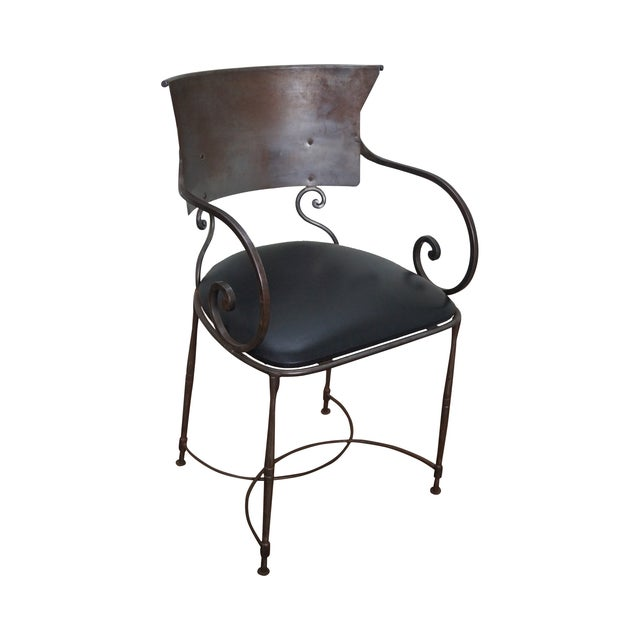Quality Steel Directoire Style Klismos Arm Chair For Sale