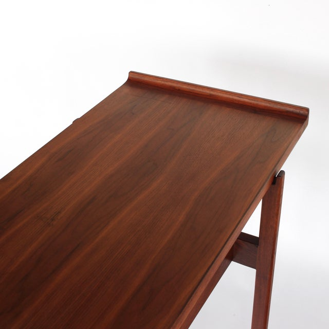 Wood 1960s Danish Modern Jens Risom Console Table With 2 Drawers For Sale - Image 7 of 12