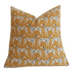 Mustard Dalmatian Pillow Cover - 18x18
