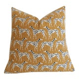 Image of Mustard Dalmatian Pillow Cover - 18x18 For Sale