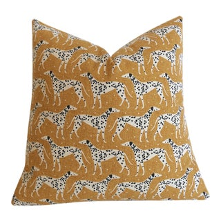 Mustard Dalmatian Pillow Cover - 18x18 For Sale