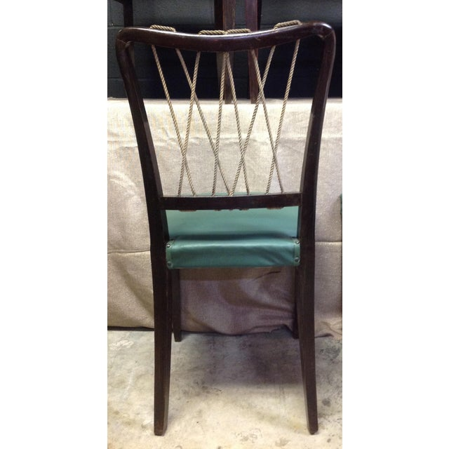 Mid-Century Italian Rope Back Dining Chairs - Set of 6 - Image 6 of 11