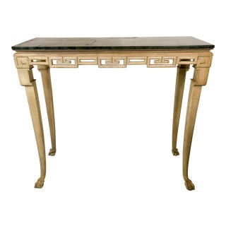 Italian Greek Key Tall Console Table For Sale