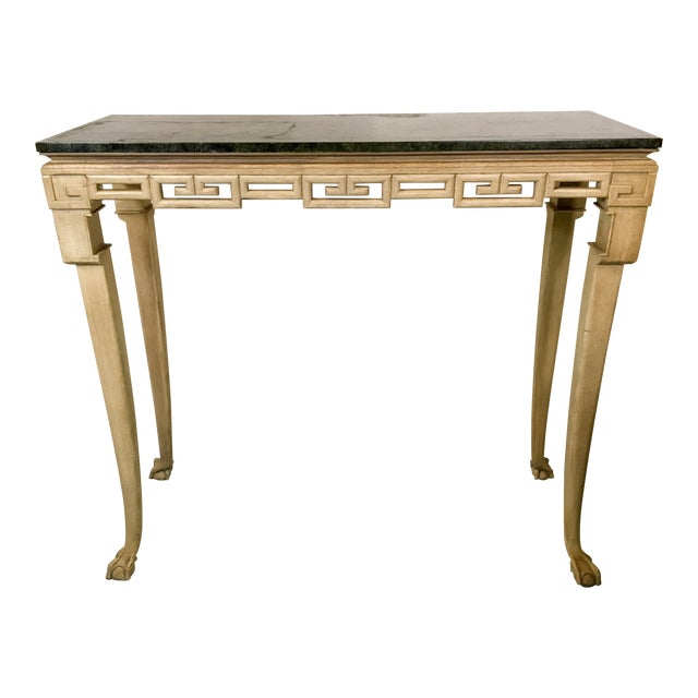 Italian Greek Key Tall Console Table - Image 1 of 6