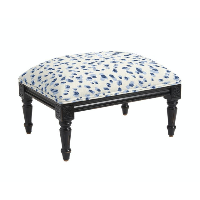 2010s Classic Louis XVI Style Footstool For Sale - Image 5 of 5