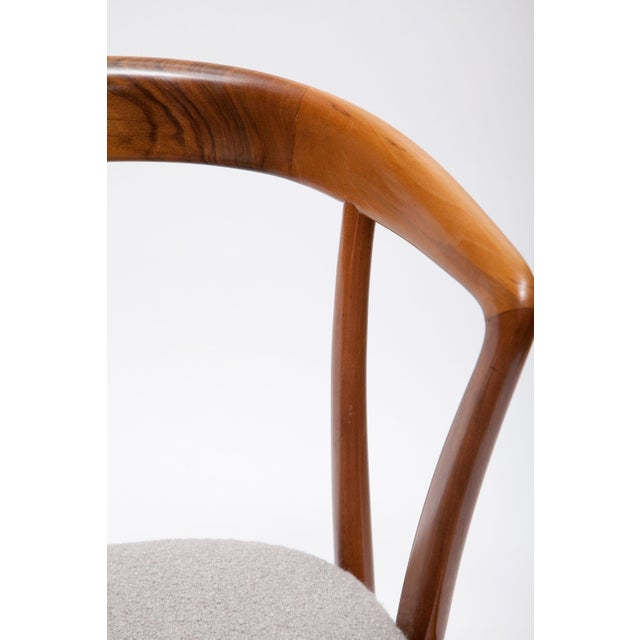 Brown Pair of Bertha Schaefer Walnut Armchairs for Singer & Sons For Sale - Image 8 of 10