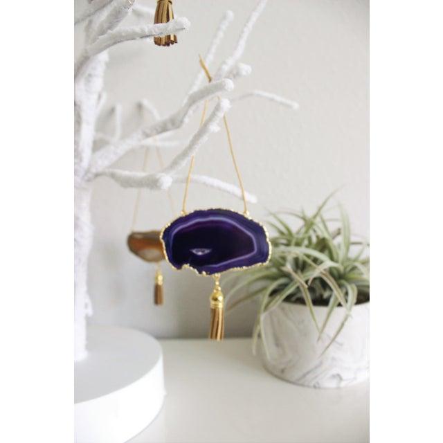 Modern Boho Agate Holiday Ornaments - Set of 7 - Image 7 of 11