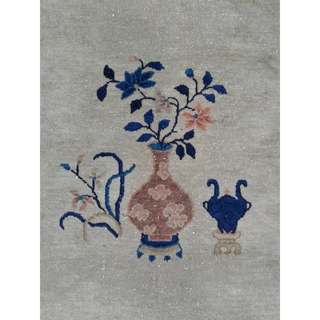 Early 20th Century Antique Chinese Wool Rug - 5′ × 8′ For Sale - Image 4 of 6