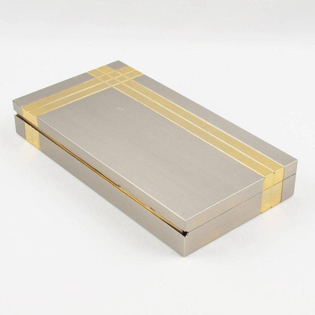 1970s Italian Noel b.c. 1970s Modernist Metal Box and Contact Book Desk Set For Sale - Image 5 of 10