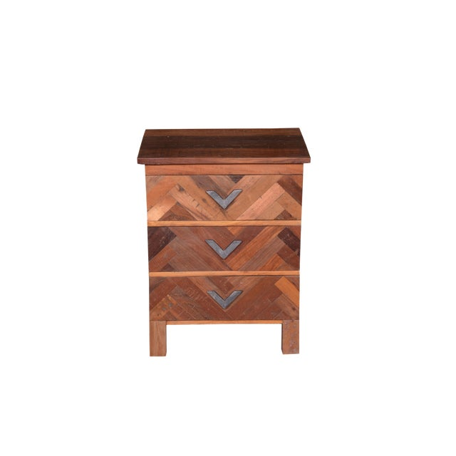 Contemporary Emelia Wooden Bedside Table For Sale