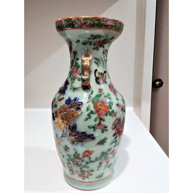 Asian Late 19th Century Antique Chinese Small Vase For Sale - Image 3 of 5