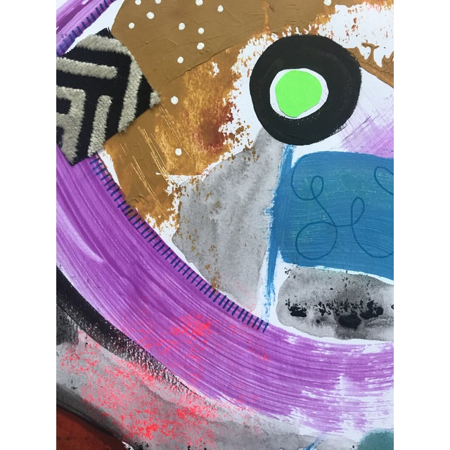 """""""Life is a Highway"""" is an original mixed media painting on an 11"""" x 14"""" heavy weight, fine texture mix media paper. This..."""