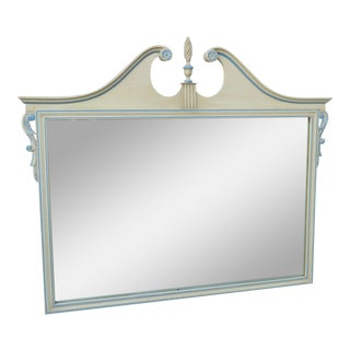 Duncan Phyfe Style Painted Wall Bathroom Vanity Dresser Mirror For Sale